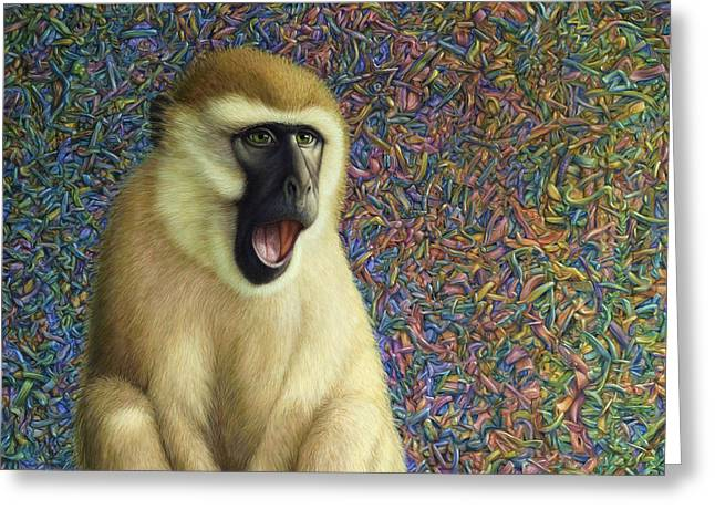 Monkeys Greeting Cards - Speechless Greeting Card by James W Johnson