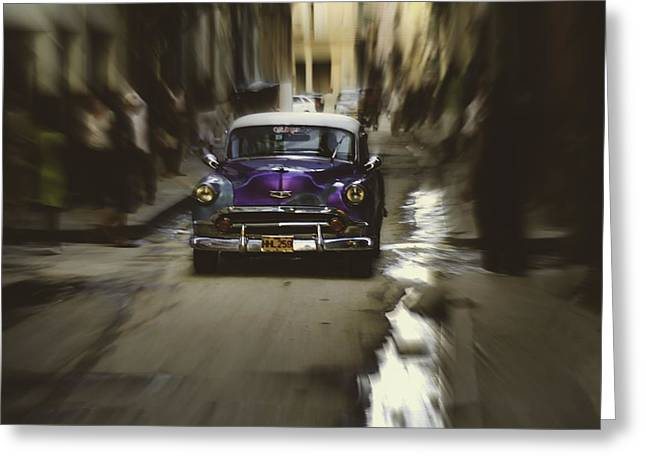 Habana Greeting Cards - Speed demon.. Greeting Card by A Rey