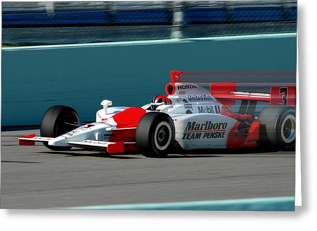 Indy Car Greeting Cards - Speed Indy Greeting Card by Kevin Cable