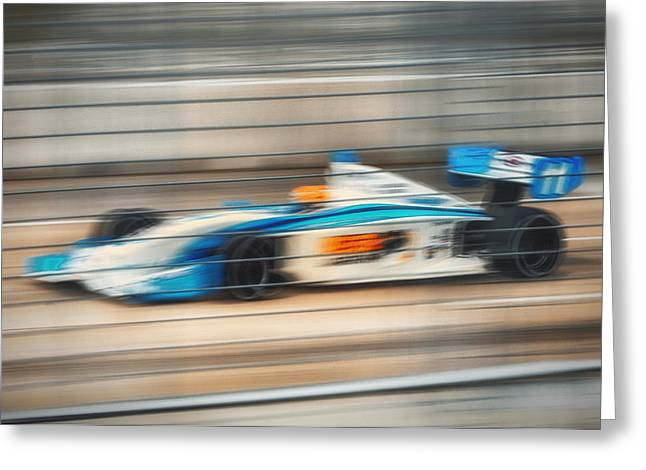 Indycar Greeting Cards - Speed Greeting Card by Larry Helms