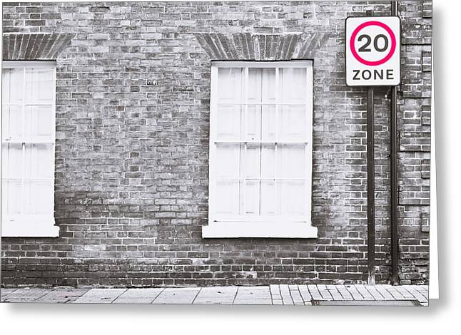 Law Enforcement Greeting Cards - Speed limit Greeting Card by Tom Gowanlock