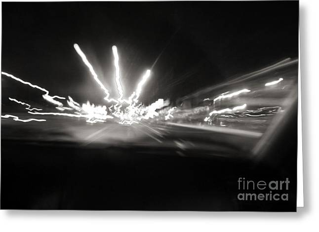 Streetphotography Greeting Cards - Speed of Light Greeting Card by Robyn King