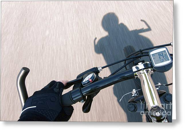 Handlebar Greeting Cards - Speed Greeting Card by Olivier Le Queinec