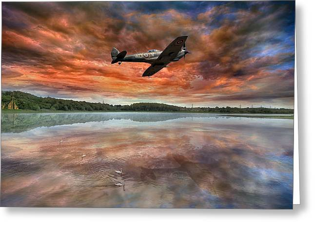 Spitfire Greeting Cards - Speed Testing Greeting Card by Jason Green