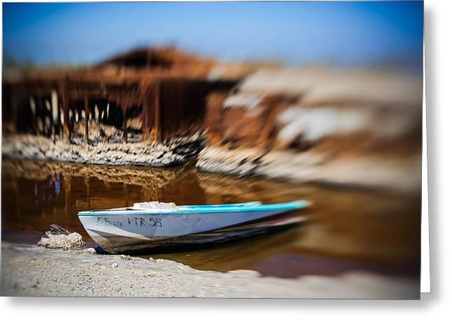 Salton Sea Greeting Cards - Speeding away Greeting Card by Scott Campbell