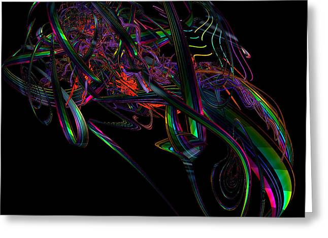 Geometric Digital Art Greeting Cards - Speedster by jammer Greeting Card by First Star Art