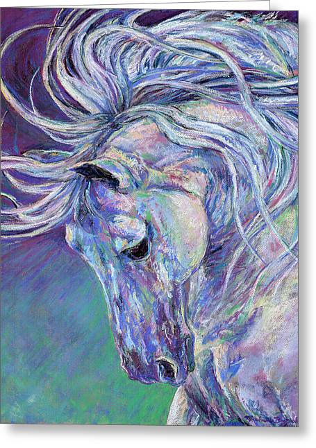 Michelle Pastels Greeting Cards - Spellbound Greeting Card by Michelle Bostock