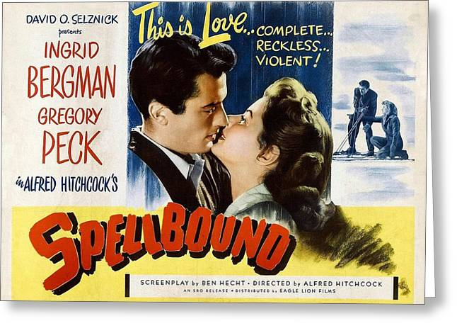 1945 Movies Greeting Cards - Spellbound  Greeting Card by Movie Poster Prints