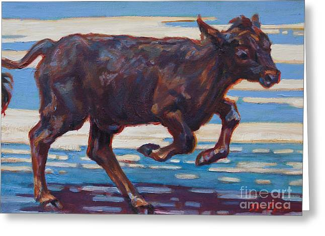 Angus Steer Greeting Cards - Spence Greeting Card by Patricia A Griffin