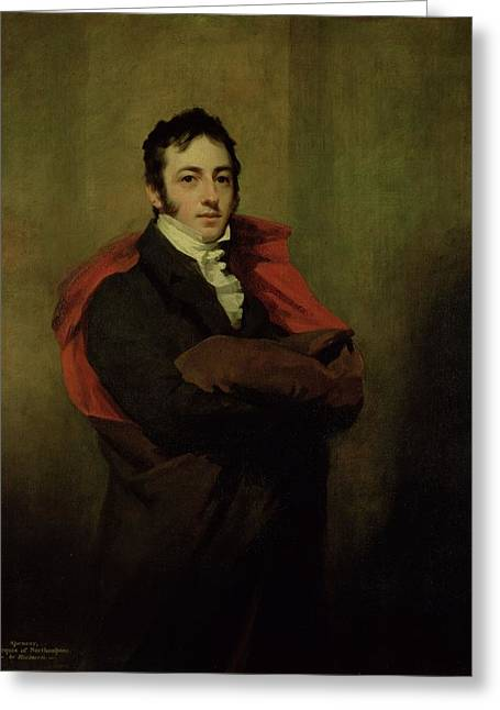 Reformer Photographs Greeting Cards - Spencer, 2nd Marquess Of Northampton, 1821 Greeting Card by Sir Henry Raeburn