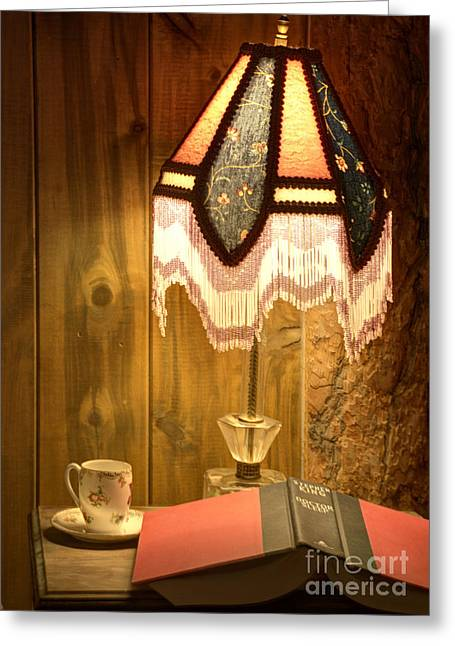 Home Interiors Greeting Cards - Spencer Bedside Table Greeting Card by Juli Scalzi