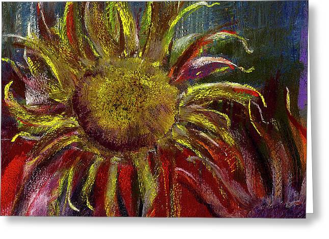 Spent Sunflower Greeting Card by David Patterson