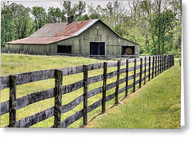 Olive Drab Greeting Cards - Sperryville  Greeting Card by JC Findley