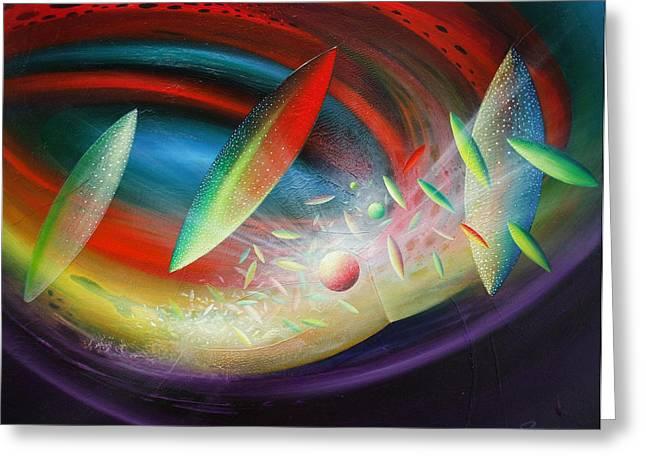 Macrocosm Paintings Greeting Cards - Sphere B12 Greeting Card by Drazen Pavlovic