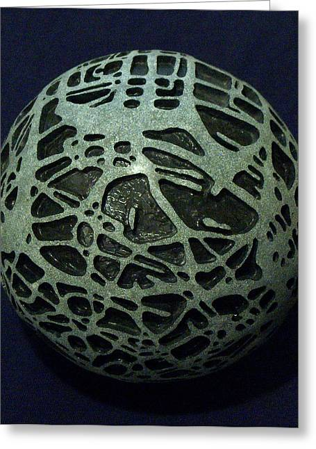 Spheres Sculptures Greeting Cards - Sphere Greeting Card by Daniel P Cronin