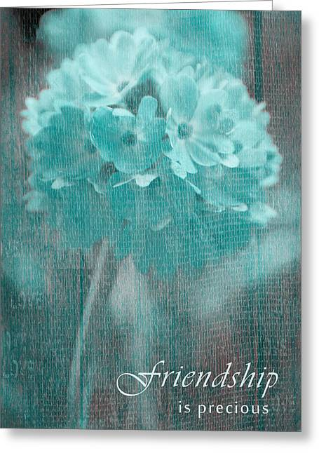 Textured Floral Greeting Cards - Sphere Floral - gr13tq - Frienship Greeting Card by Variance Collections