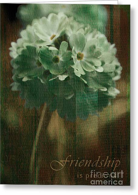 Sphere Floral - Gr83t3xt2 - Frienship Greeting Card by Variance Collections