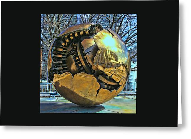 Geometric Image Greeting Cards - Sphere within a Sphere Greeting Card by Allen Beatty