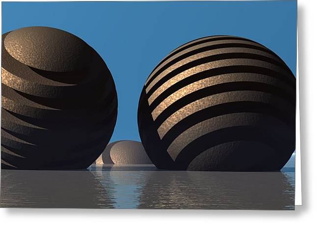 Lyle Hatch Greeting Cards - Spheres Greeting Card by Lyle Hatch