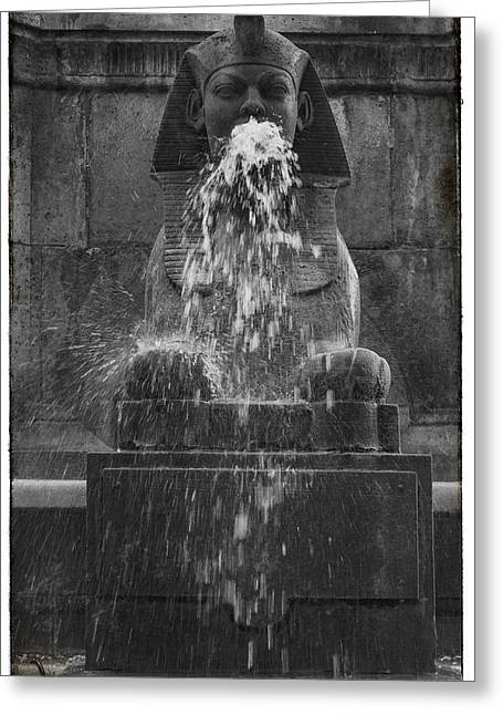 Fontaine Greeting Cards - Sphinx Fountain Paris  Greeting Card by Nomad Art And  Design