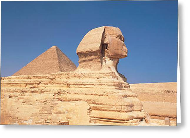 Dynasty Greeting Cards - Sphinx Giza Egypt Greeting Card by Panoramic Images
