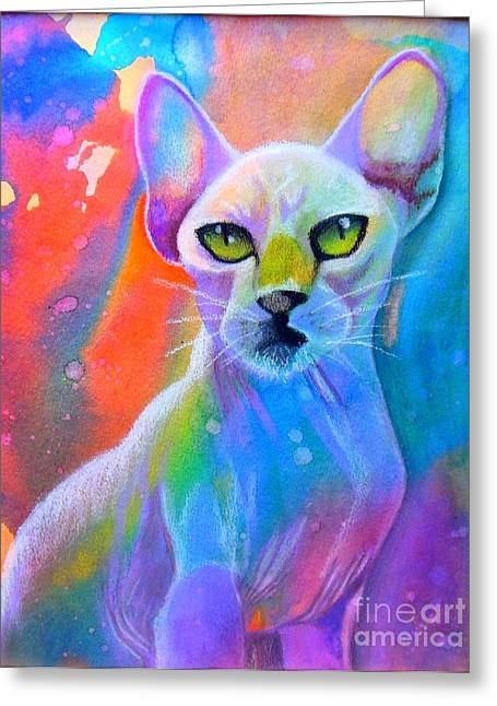 Sphynx Art Greeting Cards - Sphynx Greeting Card by Sherelle Barber