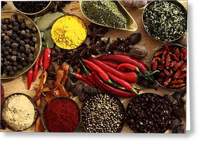 Spice Drawings Greeting Cards - Spice Greeting Card by Cole Black