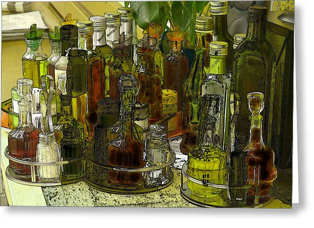 Vinegar Digital Greeting Cards - Spice Up Your Life Greeting Card by EricaMaxine  Price