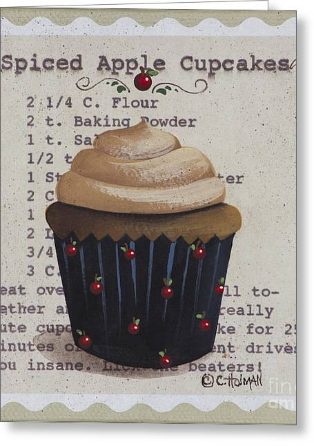 Catherine Greeting Cards - Spiced Apple Cupcake Greeting Card by Catherine Holman