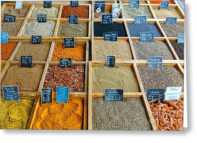 Handwritten Greeting Cards - Spices and Herbs Greeting Card by Olivier Le Queinec