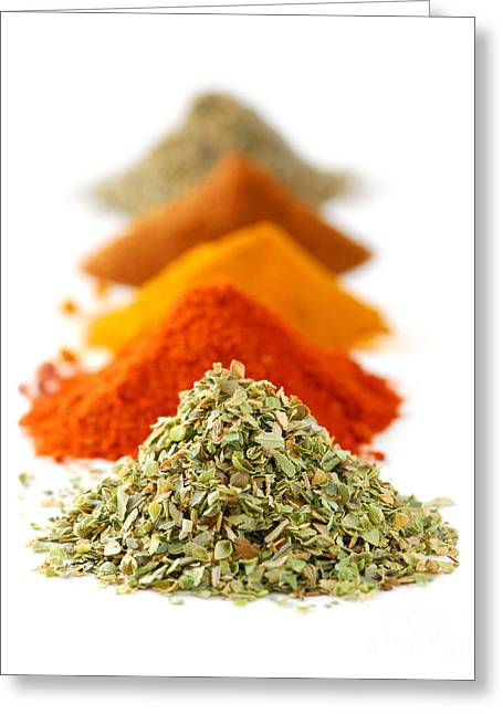 Paprika Greeting Cards - Spices Greeting Card by Elena Elisseeva