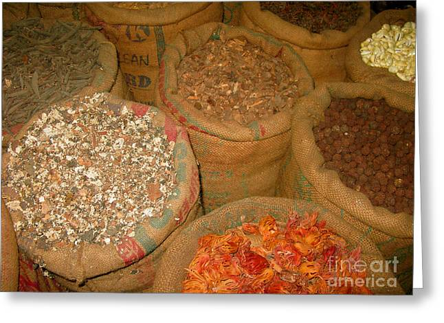Spice Route Greeting Cards - Spices from the East Greeting Card by Mini Arora