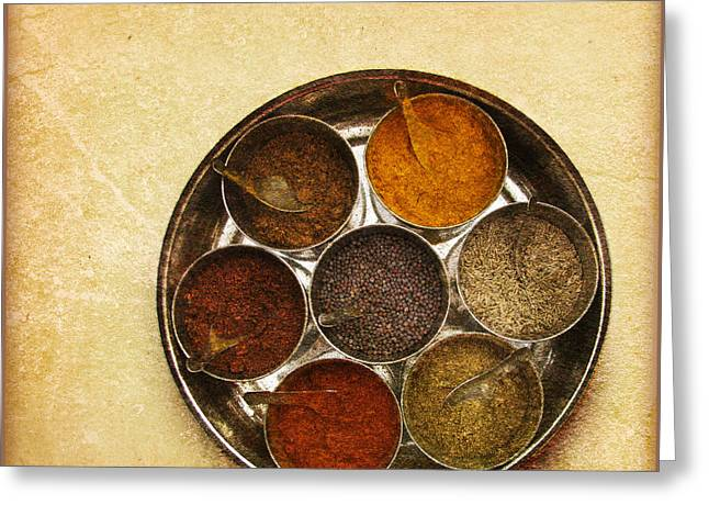 Menu Greeting Cards - Spices Of India  Greeting Card by Prajakta P