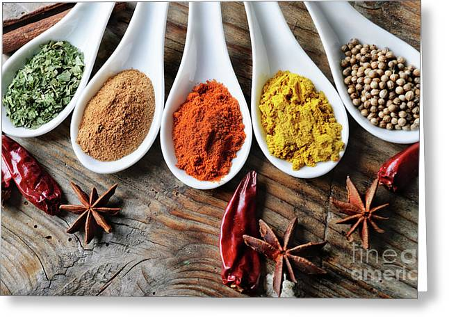 Spices Greeting Card by Jelena Jovanovic