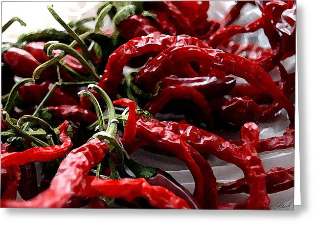 Spice Drawings Greeting Cards - Spicy Hot Greeting Card by Cole Black