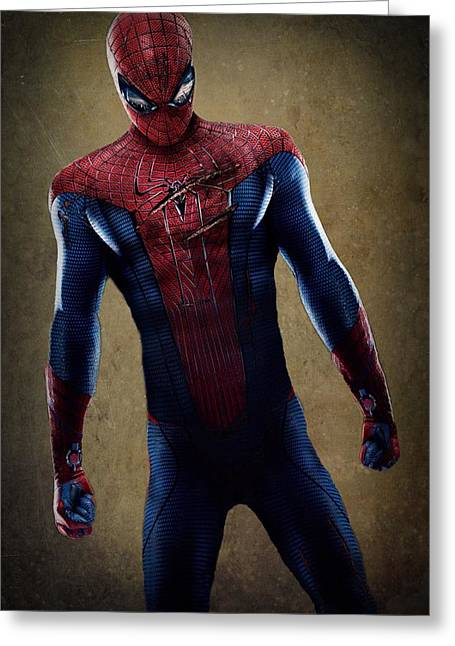 Crime Fighter Digital Art Greeting Cards - Spider-Man 2.1 Greeting Card by Movie Poster Prints