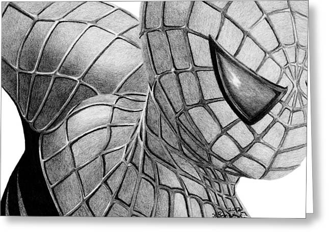 Spider-man Greeting Cards - Spider-Man Greeting Card by Kayleigh Semeniuk