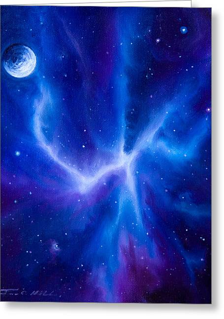 Stellar Paintings Greeting Cards - Spider Nebula Greeting Card by James Christopher Hill