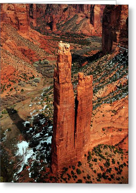 Spider Rock, Canyon De Chelly, Arizona Greeting Card by Michel Hersen