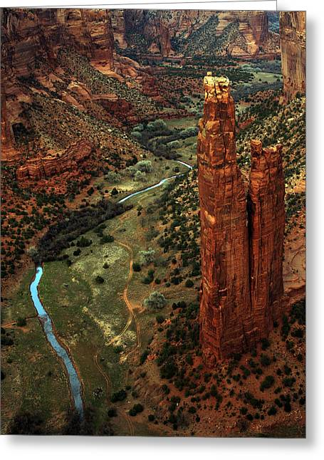 Spider Rock Art Greeting Cards - Spider Rock Greeting Card by Kenan Sipilovic