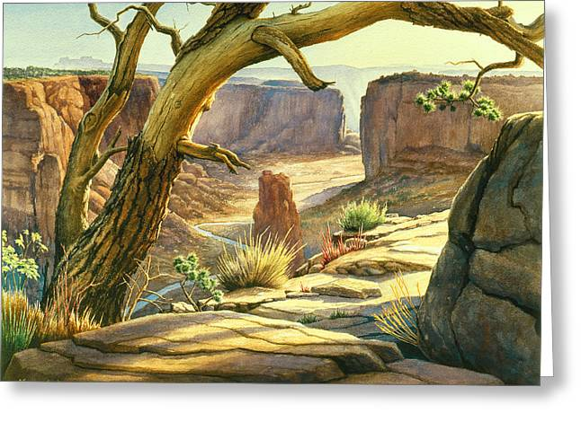 Navajo Greeting Cards - Spider Rock Overlook - Canyon DeChelly Greeting Card by Paul Krapf