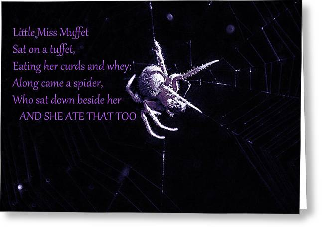 Muffet Greeting Cards - Spider Spider Greeting Card by EricaMaxine  Price