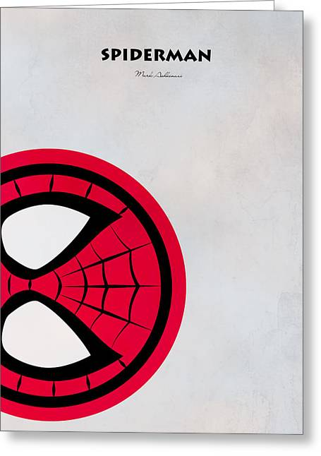 Childrens Poster Greeting Cards - Spiderman 6 Greeting Card by Mark Ashkenazi
