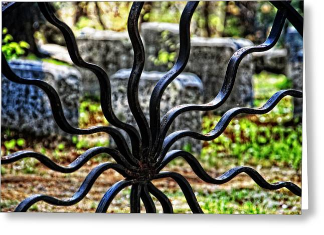 Quaker Photographs Greeting Cards - Spiders Gate Cemetery Greeting Card by Mike Martin