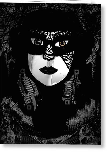 Black Widow Greeting Cards - Spiderwoman Greeting Card by Natalie Holland