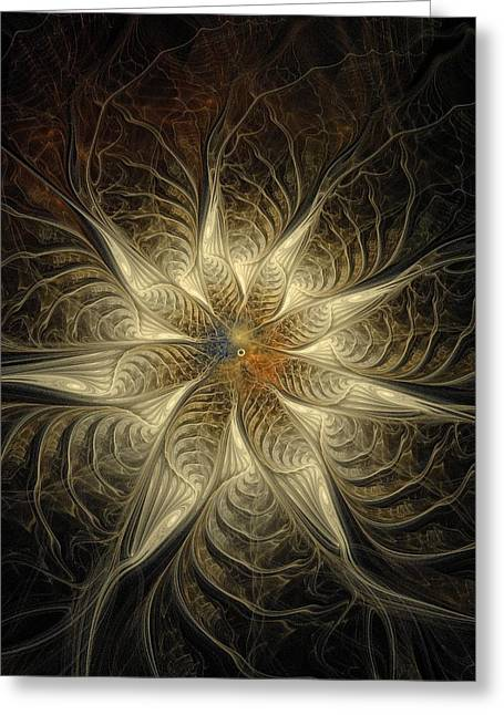 Floral Digital Art Digital Art Greeting Cards - Spidery Greeting Card by Amanda Moore