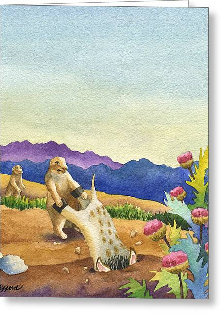 Art Book Greeting Cards - Spike Gets Stuck Greeting Card by Anne Gifford