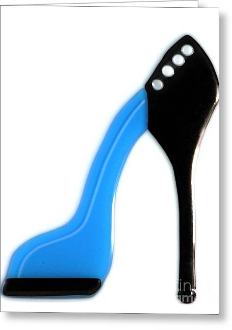 High Heeled Glass Art Greeting Cards - Spike Heel Greeting Card by Nathan Ryan