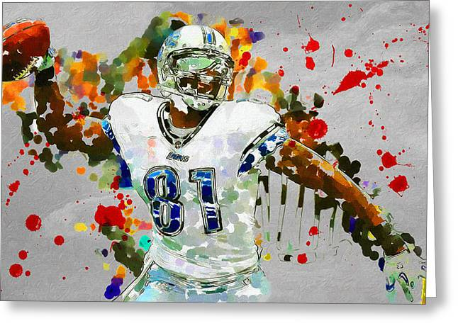 National Football League Paintings Greeting Cards - Spike It Greeting Card by John Farr
