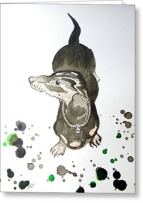 Collar Mixed Media Greeting Cards - Spike Greeting Card by Suzie Crawford
